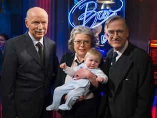 Wieland Backes, Christiane Döring, Manfred Döring mit Sohn