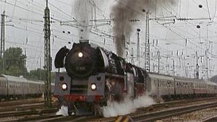 Fahrende Dampflok