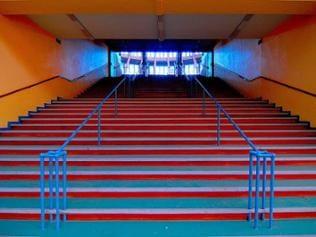 Breslau Jahrhunderthalle: Treppe