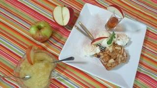 Apfel-Plotzer mit Vanilleeis (Foto: SWR)