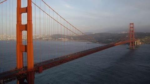 Golden Gate Bridge - Wahrzeichen von San Francisco (Foto: SWR, SWR - Alexander Schweitzer)