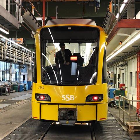 Betriebshof Heslach der Stuttgarter Straßenbahnen, SSB. Hier beginnt Carsten Strähle seinen Dienst als Stadtbahnfahrer. (Foto: SWR, Alexander Schweitzer)