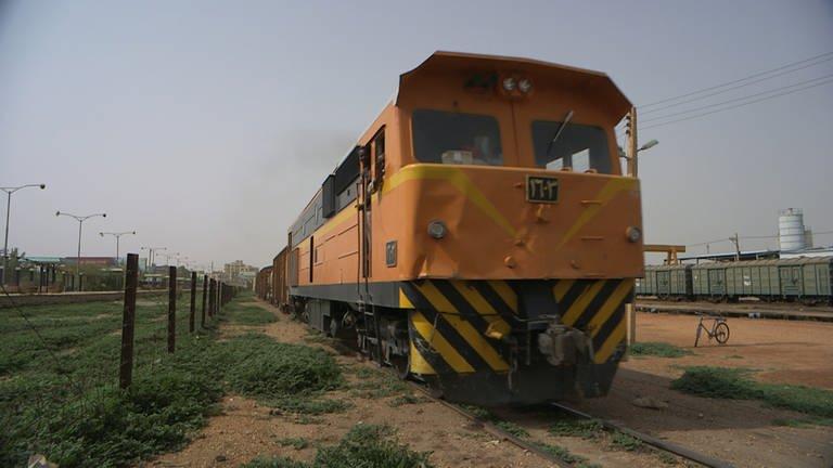 Die dieselelektrischen Lokomotiven von Henschel sind die beliebtesten Maschinen im Sudan. (Foto: SWR, SWR - Michael Mattig-Gerlach)