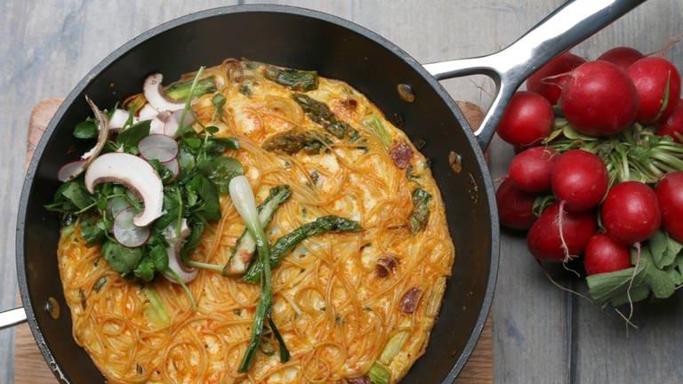 Spaghetti-Frittata (Foto: SWR, SWR -)