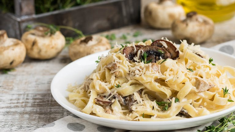 Pasta mit Pilzen (Foto: Colourbox, Colourbox -)