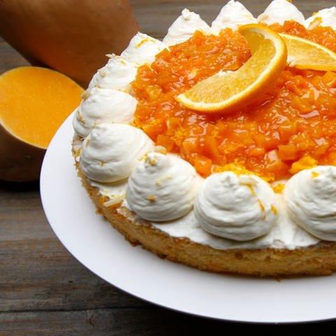 Kürbiskuchen mit Orangencreme (Foto: SWR)