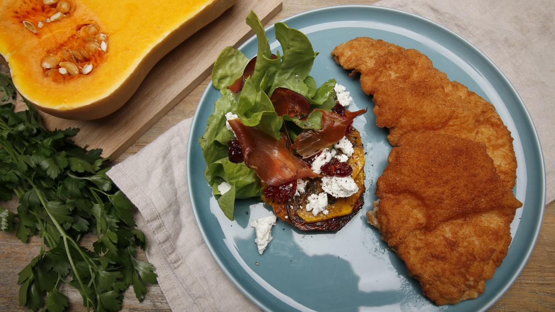 Schnitzel mit geschmortem Kürbis (Foto: SWR)