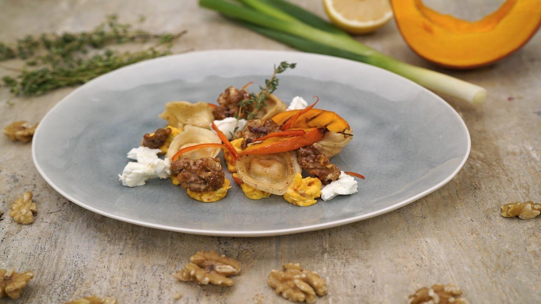 Kürbis-Tortellini mit Ziegenkäse (Foto: SWR)