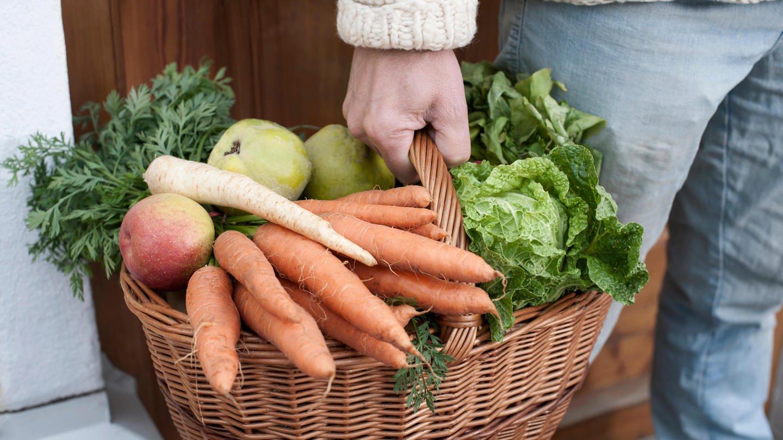 Korb mit Obst und Gemüse (Foto: Colourbox)