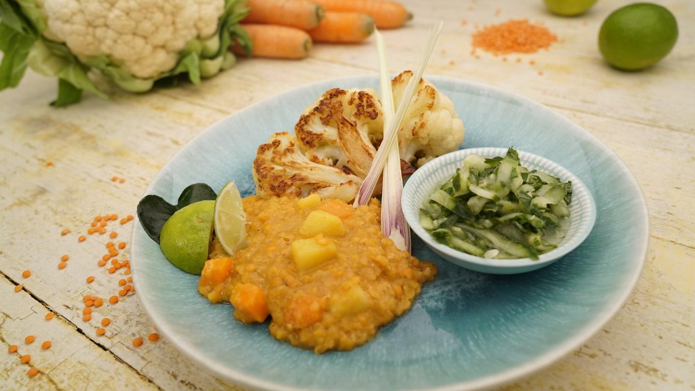 Gebratener Blumenkohl mit Linsen-Curry (Foto: SWR)
