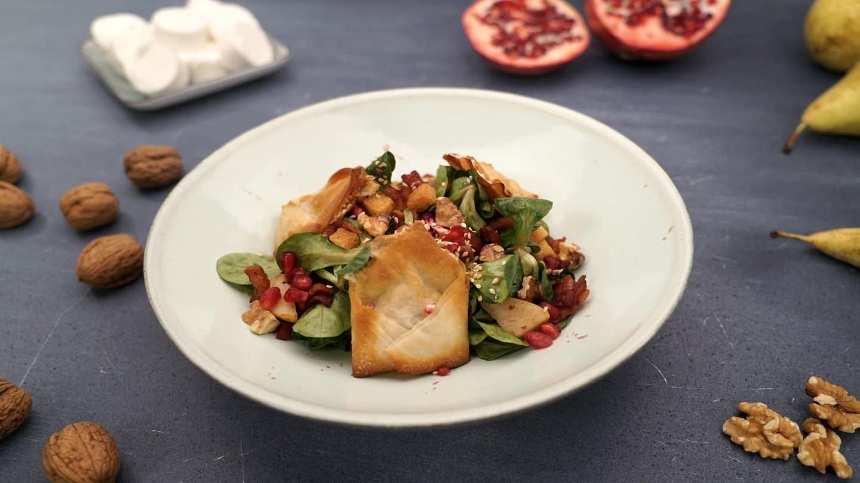 Feldsalat mit gebackenem Ziegenkäse (Foto: SWR)
