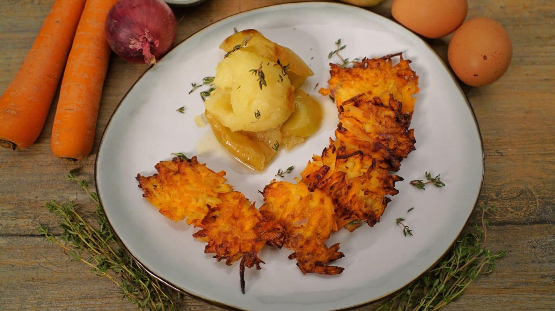 Karottenküchle mit Bratapfel
