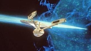 "Flaggschiff der Serie ""Star Trek"", die USS Enterprise. (Foto: picture-alliance / dpa, picture-alliance / dpa -)"