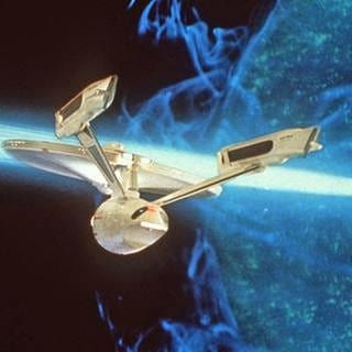 "Flaggschiff der Serie ""Star Trek"", die USS Enterprise. (Foto: picture-alliance / dpa, picture-alliance / dpa -)"