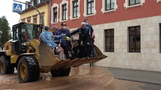 1.600 Menschen werden in Trier-Ehrang evakuiert (Foto: SWR)