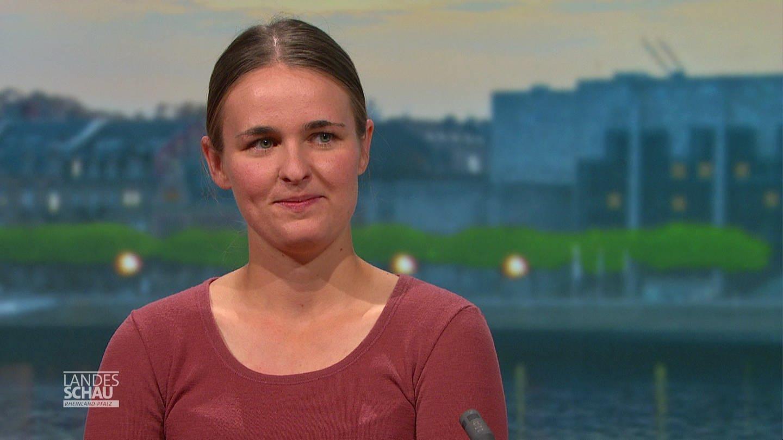 Weit-Wanderin Caroline Ludwig zu Gast in der Sendung Landesschau Rheinland-Pfalz