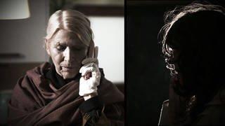 Frau nimmt Anruf entgegen - Achtung Betrugsmasche (Foto: SWR)