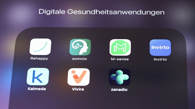 Diverse Apps - Icons auf Handy-Display (Foto: SWR)