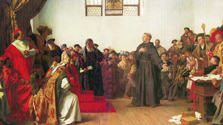 Martin Luther auf dem Reichstag in Worms 1521 (Foto: SWR)