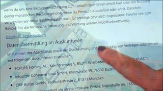 Auskunftsvereinbarung - Formular zur Datenübermittlung an die Schufa (Foto: SWR)