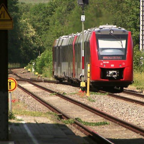 Regionalbahn fährt auf Bahnstrecke (Foto: SWR)
