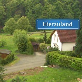 Hierzuland Bergweg Diefenbach Schild (Foto: SWR)