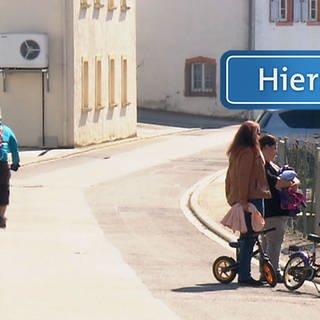 Ortsschild für Mesenich (Foto: SWR)