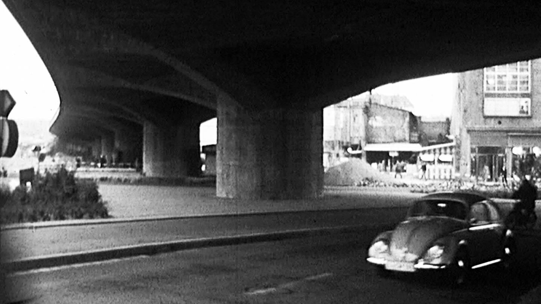 Die erste Hochstraße in Europa in Ludwigshafen. (Foto: SWR)