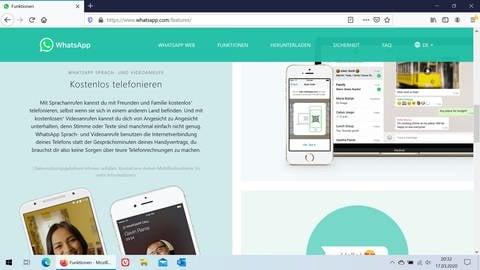 Bildschirmfoto der Webseite bei Whatsapp (Foto: SWR)