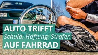 Gestürzter Fahrradfahrer - Wenn das Risiko beim Fahrradfahren mitfährt (Foto: Colourbox, COLOURBOX47265988)