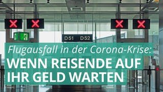 Ein geschlossener Flugsteig. Die Anzeigetafeln über den Ticketschalter zeigen rote Kreuze. (Foto: Colourbox)