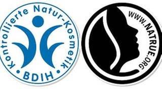 Die Naturkosmetiksiegel BDIH Cosmos und Natrue (Foto: BDIH/Natrue/SWR -)