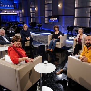 Michaela Huber, Franz Schönmoser, Michael Steinbrecher, Isabell Varell, Karin Biber, Mike Fuchs (Foto: SWR)