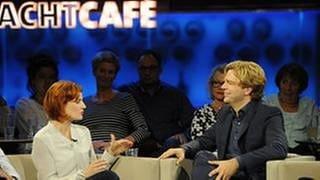 Katja Kipping und Michael Steinbrecher (v.li.) (Foto: SWR, SWR - Tom Oettle)