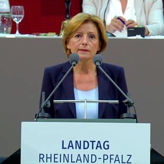 Ministerpräsidentin Rheinland-Pfalz, Malu Dreyer, beim rheinland-pfälzischen Landtag (Foto: SWR)