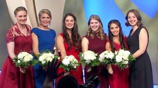 Die Finalistinnen von links:  Laura Gerhardt, Julia Sophie Böcklen, Angelina Vogt, Katharina Bausch, Carolin Hillenbrand, Miriam Kaltenbach. (Foto: SWR)