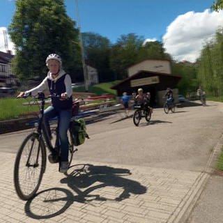 Fahrradfahrer* Innen auf einem Radweg (Foto: SWR)